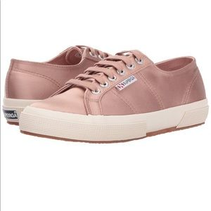 NWT SUPERGA 2750 Satin Sneakers Blush 10